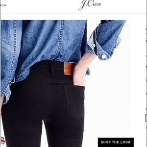 J. Crew Lookout high rise toothpick black jeans